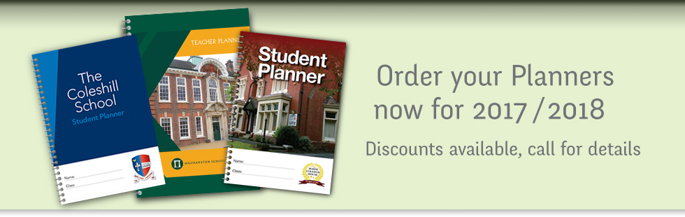 off-the-shelf, personalised and bespoke school planners